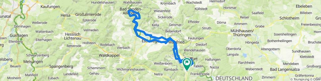 Auf dem Werratalweg von Schnellmannshausen bis Bad Sooden-Allendorf und zurück