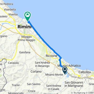 Via del Carro 57, Santa Monica-Cella nach Viale Amerigo Vespucci 3a, Rimini