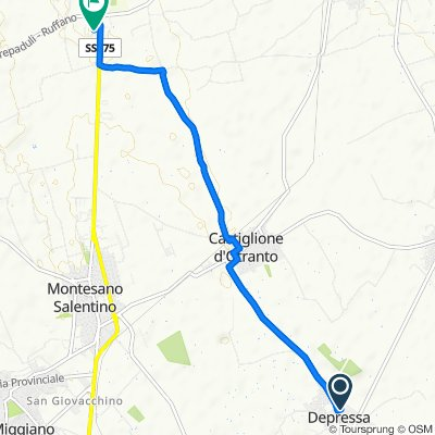 Route from Via Salete 27, Depressa