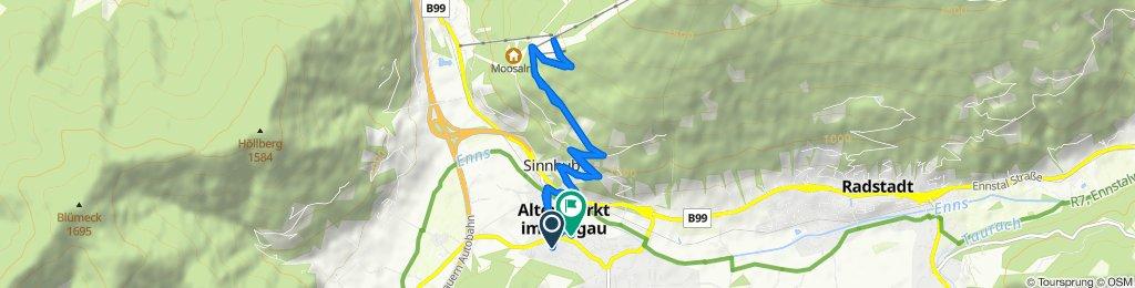 Urbisweg 7, Altenmarkt im Pongau nach Mühlbachweg, Altenmarkt im Pongau