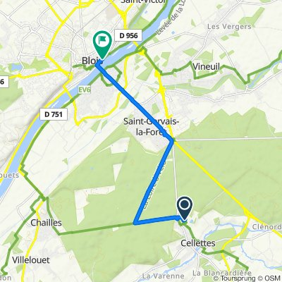 Itinéraire vers 2–6Bis Quai Saint-Jean, Blois