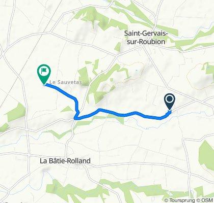 De 770 Chemin du Gontardin, Saint-Gervais-sur-Roubion à 156–380 Impasse Clarette, Bonlieu-sur-Roubion
