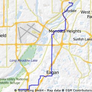 B2B00769 55337>55102 via High Line Trl, Pilot Knob, Victoria Rd, Shepard Rd