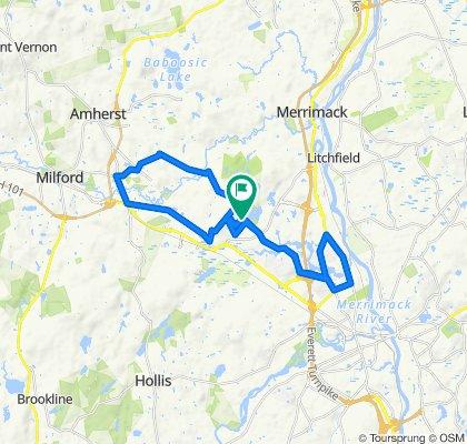 Local Merrimack 25 mile Parkinson's route