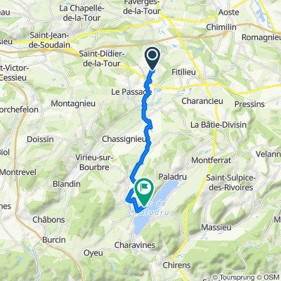 De Rue Lavoisier 20, Saint-André-le-Gaz à Route du Lac 72, Paladru