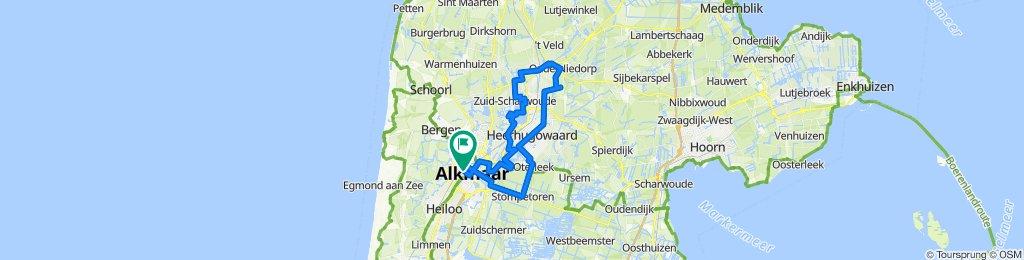 Alkmaar - Ründchen Oudorperpolder - Park van Luna - Langedijk - Noord-Scharwoude - Oudkarsel - Heerhugowaard - Stompetoren - Omval und zurück 2020