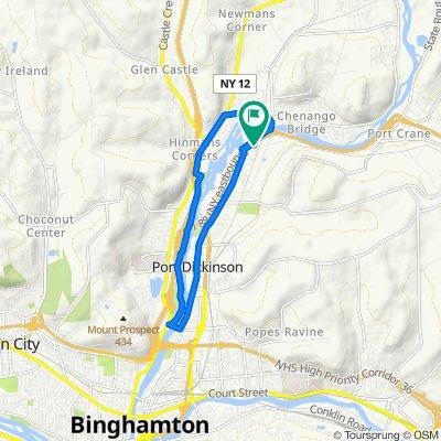 Chenango Street 1384, Binghamton to Chenango Street 1384, Binghamton