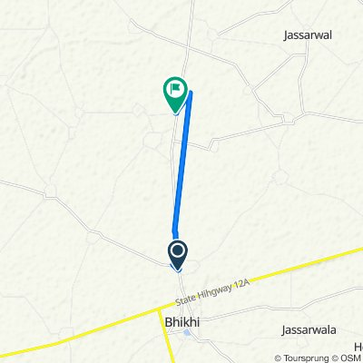Bhikhi - Barnala Road, Samaon to Bhikhi - Barnala Road