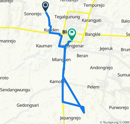 Jalan Dukuhan, Kecamatan Blora to Jalan Reksodiputro No.20, Kecamatan Blora