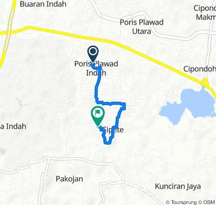 Jalan Pakis, Cipondoh to Jalan Taman Banjar Wijaya Boulevard No. 23, Cipondoh