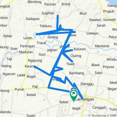 Jalan Raya Made 103, Kecamatan Lamongan to Jalan Made Kidul 27, Kecamatan Lamongan