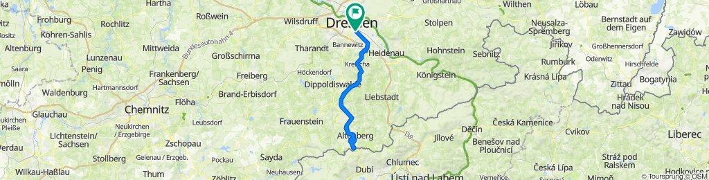 Von Dresden zum Kahleberg und zurück