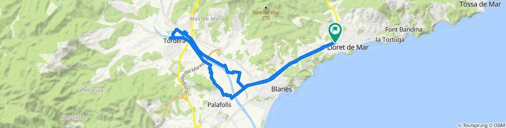 De GI-682 136, Lloret de Mar a Avinguda Vila de Blanes 138, Lloret de Mar