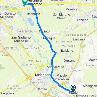 Da Via Enrico Berlinguer 2A, Sordio a Via Salvador Allende 2, Peschiera Borromeo