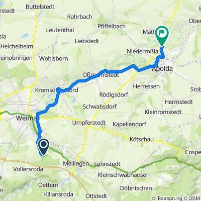 Schloß Belvedere 15, Weimar nach Am Weimarer Berg 7, Apolda
