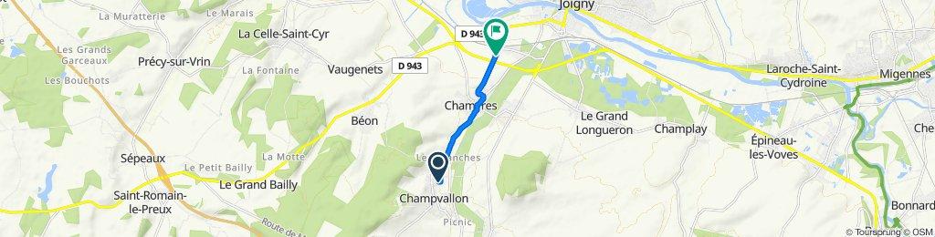 De 6 Rue du Cimetière, Champvallon à 17 Rue de la Voie Romaine, Joigny