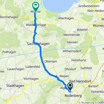 Jadeweg, Rodenberg nach Südstraße 1–5, Rehburg-Loccum