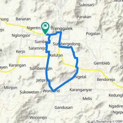 Route to Jalan Raya Trenggalek - Ponorogo, Karangan