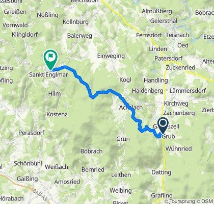 Mühlen-Siedlung 1, Grafling nach Bayerweg 65, Sankt Englmar