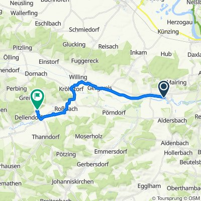 Kriestorfer Straße 17, Aldersbach nach Leberfing 1, Roßbach