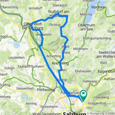 Salzburg - Oberndorf - Haunsperg - Anthering - Salzburg