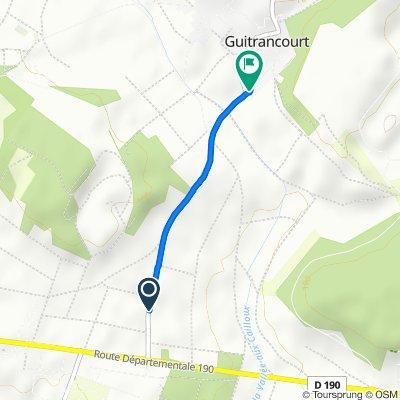 Itinéraire vers 8bis Sente des Saules, Guitrancourt