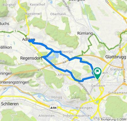 Schaffhauserstrasse 421, Zürich to Jungholzstrasse 35, Zürich