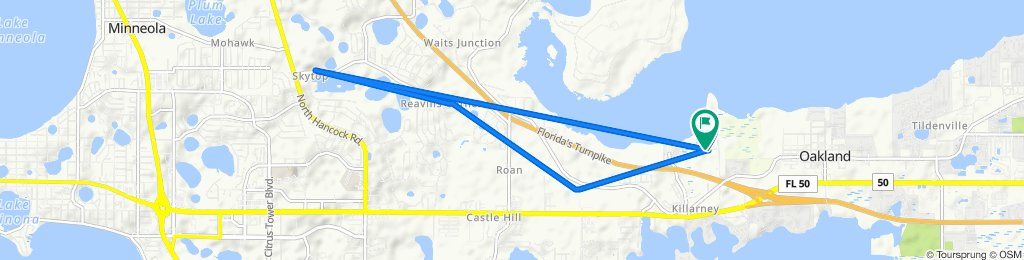 Route to 810 Hull Island Dr, Oakland