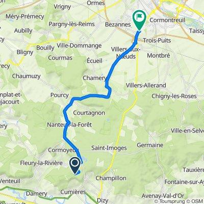 Route nach Avenue de Champagne, Reims