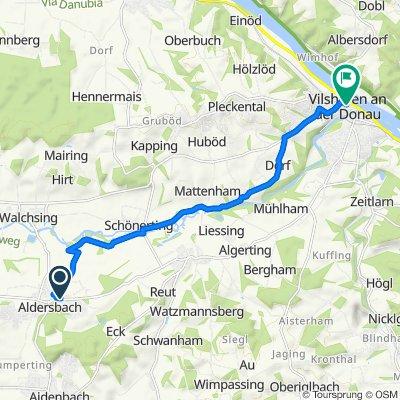 Robert-Daiser-Straße 2, Aldersbach nach Stadtplatz 14, Vilshofen an der Donau