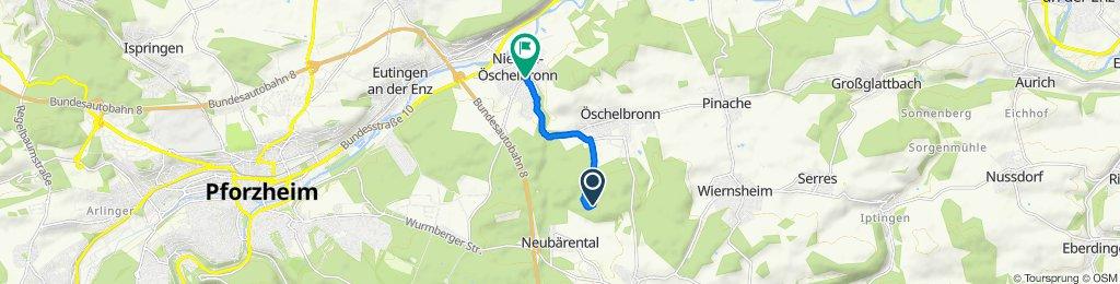Route nach Höhenstraße 2, Niefern-Öschelbronn
