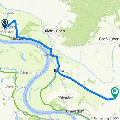 Route von Dorfstraße, Wittenberge