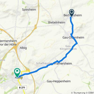 Langgasse 27, Bechtolsheim nach St.-Georgen-Straße 2, Alzey