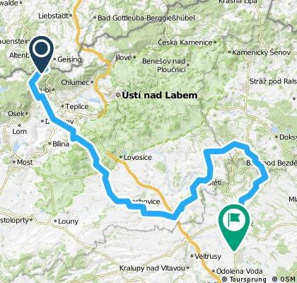 AFFK 2011 2. Etappe Altenberg - Melnik 156 km