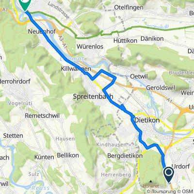 Chilstig 206–334, Urdorf nach Seminarstrasse 120, Wettingen