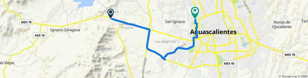 Picacho-Del Valle-Brisas-Jalpa, Jesús María a Calle Miguel Rúelas 906, Aguascalientes