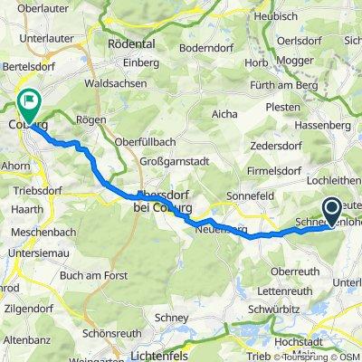 Neubrand 8, Schneckenlohe nach Mittleres Kirchgäßlein 1, Coburg