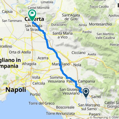 Da Via San Valentino 29, Striano a Viale Giulio Douhet 2/A, Caserta
