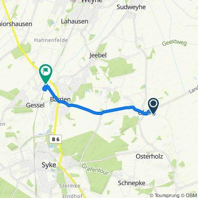 Okeler Heide 8, Syke nach Bremer Straße 3, Syke