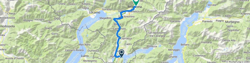 Riva Paradiso 1, Paradiso to Piazzale Stazione, Bellinzona