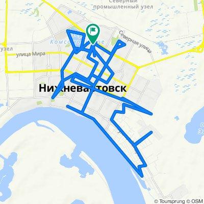От улица Нефтяников 78, Нижневартовск до улица Нефтяников 78, Нижневартовск