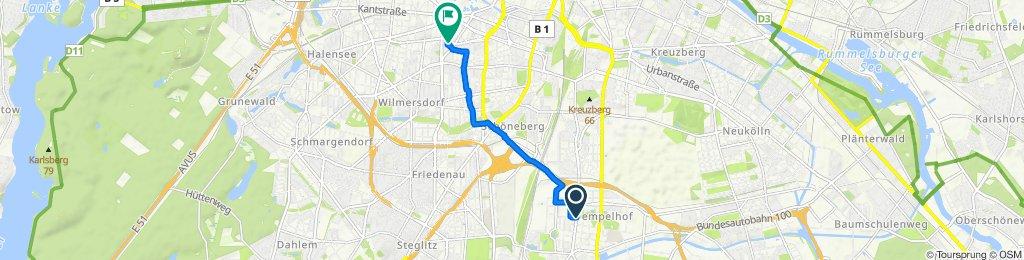 Manteuffelstraße 60, Berlin to Lietzenburger Straße 41, Berlin
