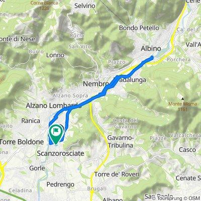 Da Via Monsignor Maurizio Crotti 24, Villa di Serio a Via Guido Guinizzelli 22, Scanzorosciate