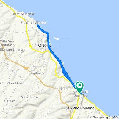 Da Via Lungomare di Gualdo 31, San Vito Chietino a Via Feltrino 32, San Vito Chietino