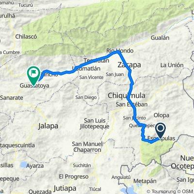 Vuelta a Guatemala inventada etapa 1 Esquipulas- Guastatoya
