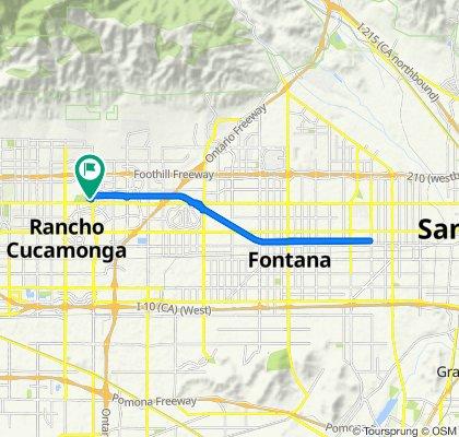 Milliken Ave, Rancho Cucamonga to Milliken Ave, Rancho Cucamonga