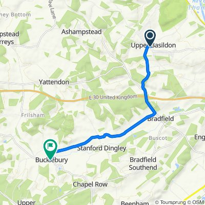 Route from Blandy's Lane, Reading