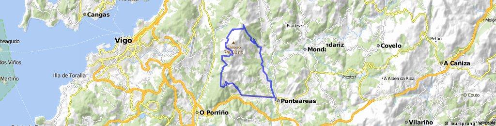 Subida y descenso al Galleiro desde Ponteareas