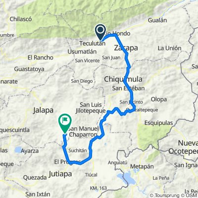 Vuelta a Guatemala inventada etapa 2 Santa Cruz Zacapa- Monjas Jalapa