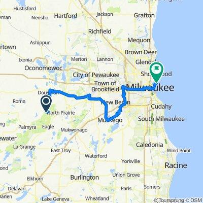 56 Mile solo tri bike ride